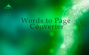convert words to page photo