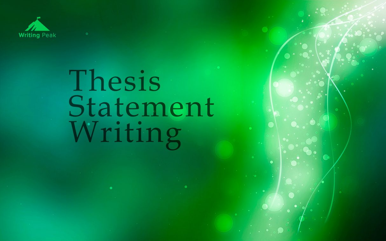 thesis statement writing photo