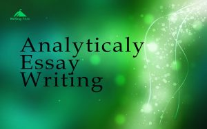 How to write analyticaly