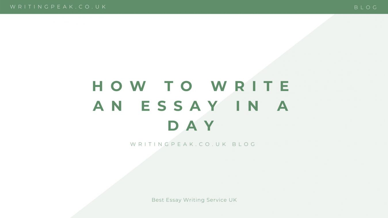 How to Write an Essay in a Day