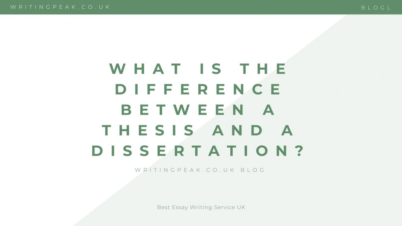 difference between a thesis and a dissertation